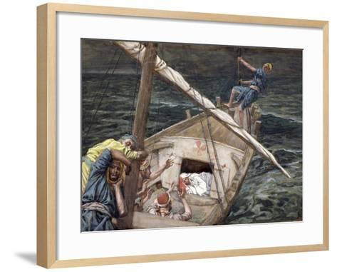 Christ Asleep During the Storm, Illustration for 'The Life of Christ', C.1886-94-James Tissot-Framed Art Print