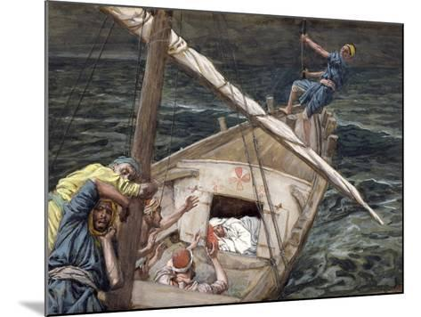 Christ Asleep During the Storm, Illustration for 'The Life of Christ', C.1886-94-James Tissot-Mounted Giclee Print