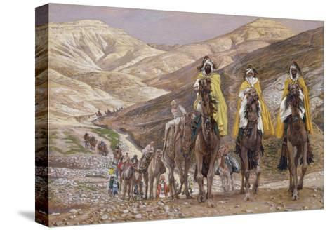 The Wise Men Journeying to Bethlehem, Illustration for 'The Life of Christ', C.1886-94-James Tissot-Stretched Canvas Print