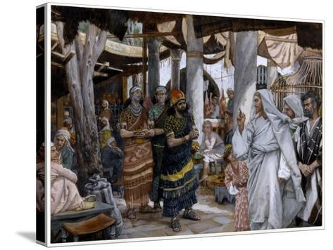 The Healing of the Ruler's Son, Illustration for 'The Life of Christ', C.1884-96-James Tissot-Stretched Canvas Print