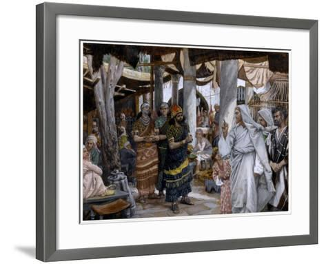 The Healing of the Ruler's Son, Illustration for 'The Life of Christ', C.1884-96-James Tissot-Framed Art Print