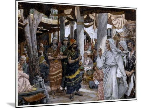 The Healing of the Ruler's Son, Illustration for 'The Life of Christ', C.1884-96-James Tissot-Mounted Giclee Print