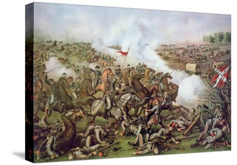 Battle of Five Forks, Virginia, 1st April 1865, Engraved by Kurz and Allison, 1886-American School-Stretched Canvas Print