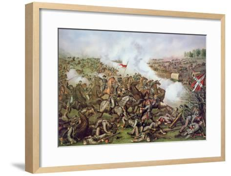 Battle of Five Forks, Virginia, 1st April 1865, Engraved by Kurz and Allison, 1886-American School-Framed Art Print