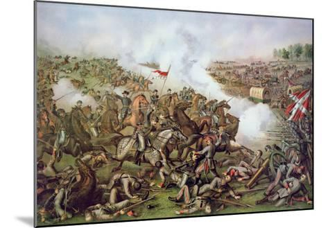 Battle of Five Forks, Virginia, 1st April 1865, Engraved by Kurz and Allison, 1886-American School-Mounted Giclee Print