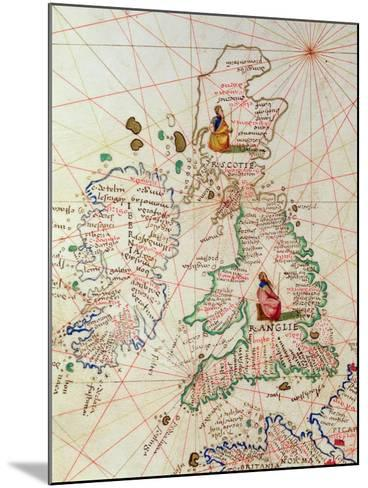 The Kingdoms of England and Scotland, from an Atlas of the World in 33 Maps, Venice-Battista Agnese-Mounted Giclee Print