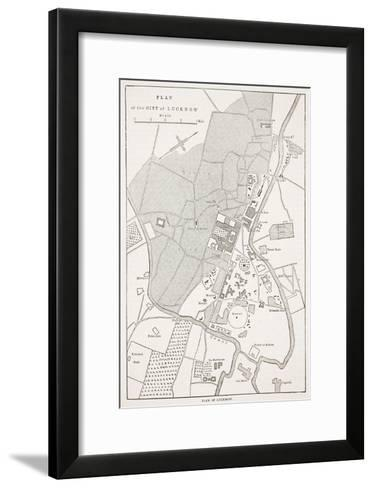 Plan of the City of Lucknow, from 'Cassell's Illustrated History of England'-English School-Framed Art Print