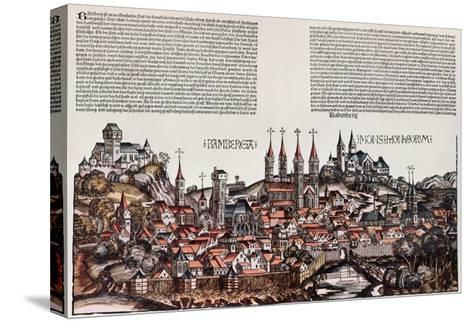 The City of Bamberg, from the 'Liber Chronicarum', by Hartmann Schedel, 1493-German School-Stretched Canvas Print