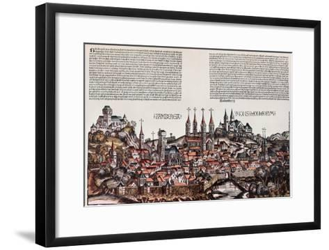 The City of Bamberg, from the 'Liber Chronicarum', by Hartmann Schedel, 1493-German School-Framed Art Print