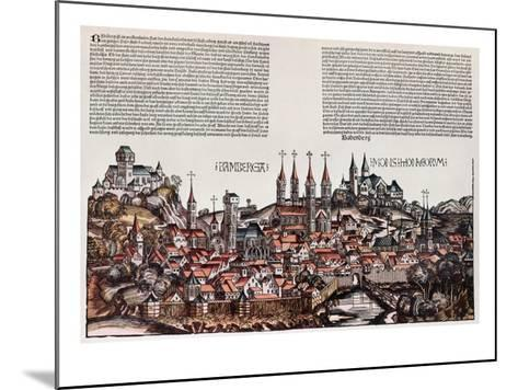 The City of Bamberg, from the 'Liber Chronicarum', by Hartmann Schedel, 1493-German School-Mounted Giclee Print