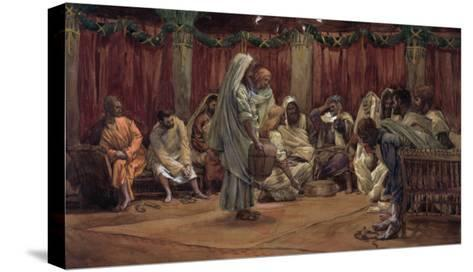 Jesus Washing the Disciples' Feet, Illustration for 'The Life of Christ', C.1886-94-James Tissot-Stretched Canvas Print