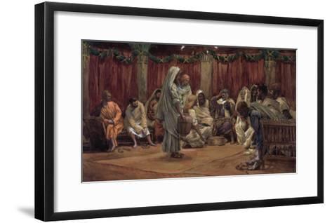 Jesus Washing the Disciples' Feet, Illustration for 'The Life of Christ', C.1886-94-James Tissot-Framed Art Print