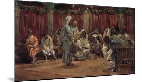 Jesus Washing the Disciples' Feet, Illustration for 'The Life of Christ', C.1886-94-James Tissot-Mounted Giclee Print