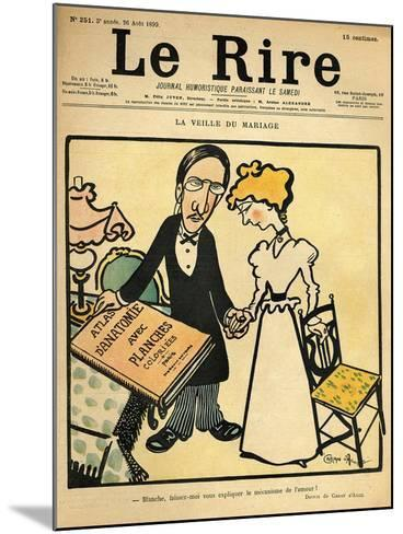 The Day before the Wedding, Cartoon from the Cover of 'Le Rire', 26th August 1899-Emmanuel Poire Caran D'ache-Mounted Giclee Print