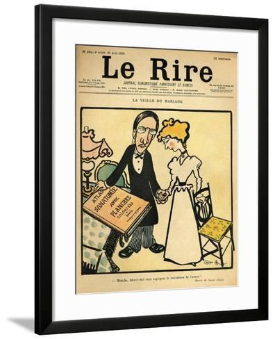 The Day before the Wedding, Cartoon from the Cover of 'Le Rire', 26th August 1899-Emmanuel Poire Caran D'ache-Framed Art Print