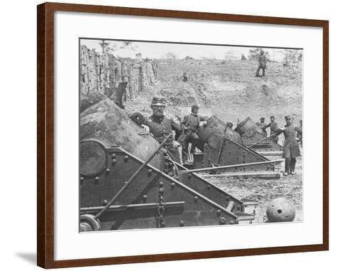 Federal Siege Guns, Yorktown, Virginia, During the American Civil War-Mathew Brady-Framed Art Print