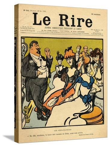 The Explorers, from the Front Cover of 'Le Rire', 18th May 1901-Emmanuel Poire Caran D'ache-Stretched Canvas Print