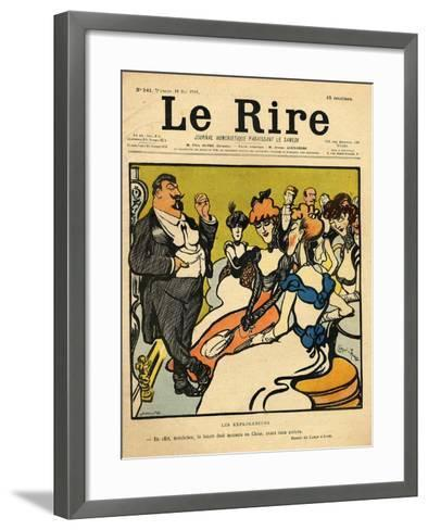 The Explorers, from the Front Cover of 'Le Rire', 18th May 1901-Emmanuel Poire Caran D'ache-Framed Art Print