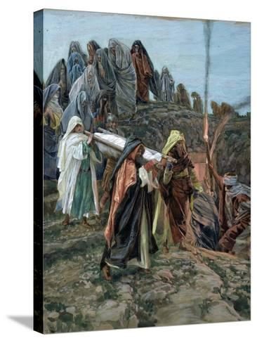 Jesus Carried to the Tomb, Illustration for 'The Life of Christ', C.1886-94-James Tissot-Stretched Canvas Print
