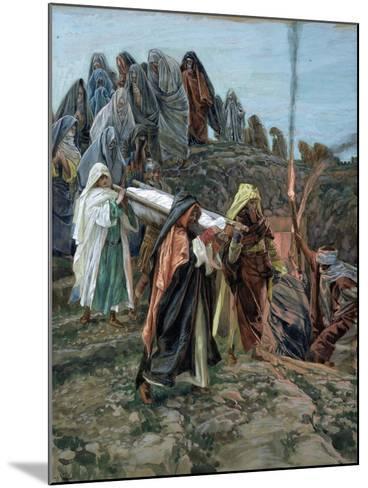 Jesus Carried to the Tomb, Illustration for 'The Life of Christ', C.1886-94-James Tissot-Mounted Giclee Print