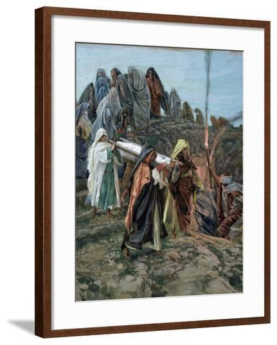 Jesus Carried to the Tomb, Illustration for 'The Life of Christ', C.1886-94-James Tissot-Framed Art Print