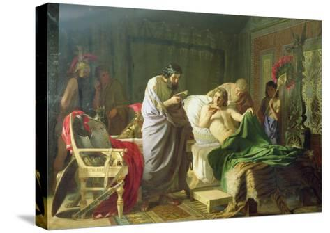 Confidence of Alexander the Great into His Physician Philippos, 1870-Hendrik Siemiradzki-Stretched Canvas Print