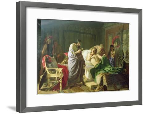 Confidence of Alexander the Great into His Physician Philippos, 1870-Hendrik Siemiradzki-Framed Art Print