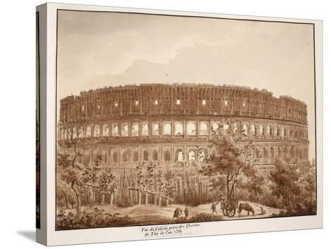 View of the Colosseum from the Baths of Titus, in the Year 1788, 1833-Agostino Tofanelli-Stretched Canvas Print