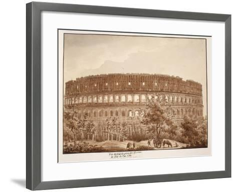 View of the Colosseum from the Baths of Titus, in the Year 1788, 1833-Agostino Tofanelli-Framed Art Print