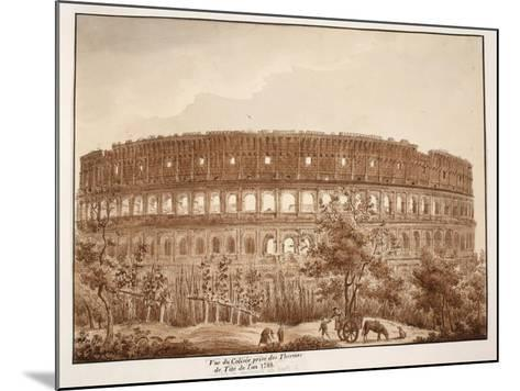 View of the Colosseum from the Baths of Titus, in the Year 1788, 1833-Agostino Tofanelli-Mounted Giclee Print