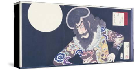 The Actor Ichikawa Danjuro Ix in the Role of the Pirate Kezori Kuemon-Tsukioka Kinzaburo Yoshitoshi-Stretched Canvas Print