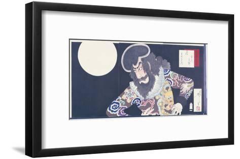 The Actor Ichikawa Danjuro Ix in the Role of the Pirate Kezori Kuemon-Tsukioka Kinzaburo Yoshitoshi-Framed Art Print