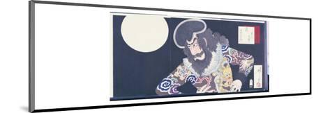 The Actor Ichikawa Danjuro Ix in the Role of the Pirate Kezori Kuemon-Tsukioka Kinzaburo Yoshitoshi-Mounted Giclee Print