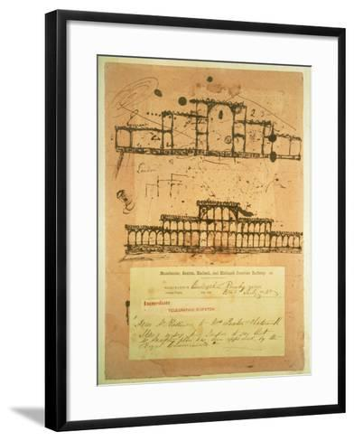 Sketch for the Crystal Palace, Built for the Great Exhibition of 1851, 1850-Paxton-Framed Art Print