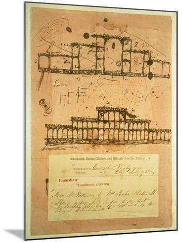 Sketch for the Crystal Palace, Built for the Great Exhibition of 1851, 1850-Paxton-Mounted Giclee Print