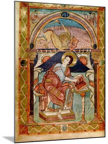 Lat 8850 F.81V St. Mark, French, from the Court School of Charlemagne-French School-Mounted Giclee Print