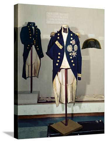 Royal Naval Uniform Worn by Nelson at the Battle of Trafalgar in 1805--Stretched Canvas Print