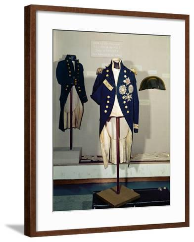 Royal Naval Uniform Worn by Nelson at the Battle of Trafalgar in 1805--Framed Art Print