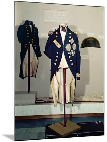 Royal Naval Uniform Worn by Nelson at the Battle of Trafalgar in 1805--Mounted Giclee Print
