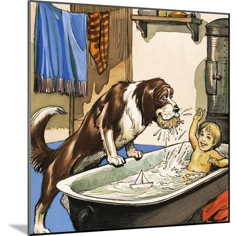 Nana Baths Michael, Illustration from 'Peter Pan' by J.M. Barrie-Nadir Quinto-Mounted Giclee Print