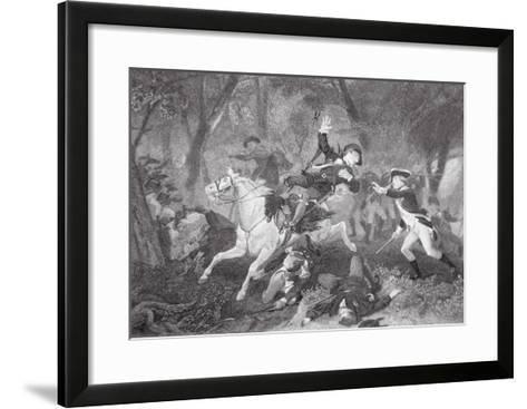 Death of Patrick Ferguson at the Battle of King's Mountain, 7 October 1780-American School-Framed Art Print