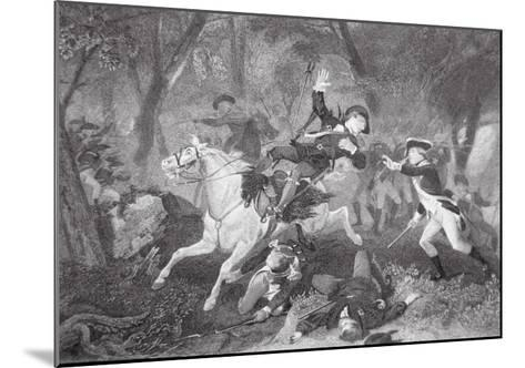 Death of Patrick Ferguson at the Battle of King's Mountain, 7 October 1780-American School-Mounted Giclee Print