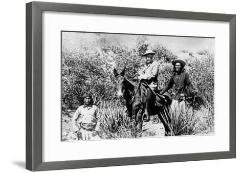 General George Crook on a Mule, with Two Apache in Arizona, 1882-American Photographer-Framed Art Print