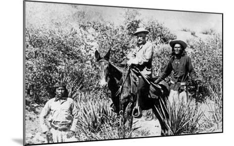 General George Crook on a Mule, with Two Apache in Arizona, 1882-American Photographer-Mounted Giclee Print