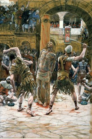 The Scourging, Illustration for 'The Life of Christ', C.1884-96-James Tissot-Stretched Canvas Print