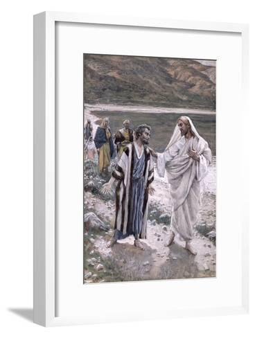 Feed My Lambs, Illustration for 'The Life of Christ', C.1884-96-James Tissot-Framed Art Print