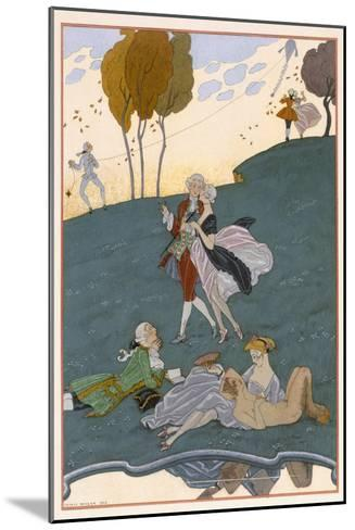 Fetes Galantes, Illustration for 'Fetes Galantes' by Paul Verlaine-Georges Barbier-Mounted Giclee Print