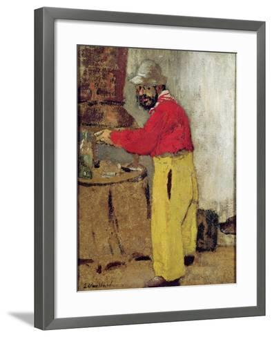 Henri De Toulouse-Lautrec at Villeneuve Sur Yonne, 1898-Edouard Vuillard-Framed Art Print