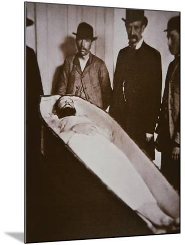 Jesse James in His Coffin after Being Shot Dead in 1882-American Photographer-Mounted Giclee Print