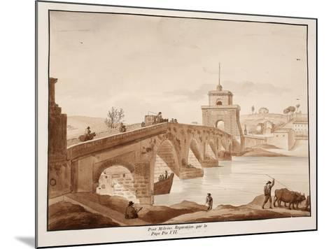 The Restoration of Ponte Milvio by Pope Pius Vii, 1833-Agostino Tofanelli-Mounted Giclee Print